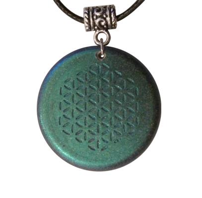 Orgonite pendant metallic blue finish fix the world project orgonite pendant aloadofball Images